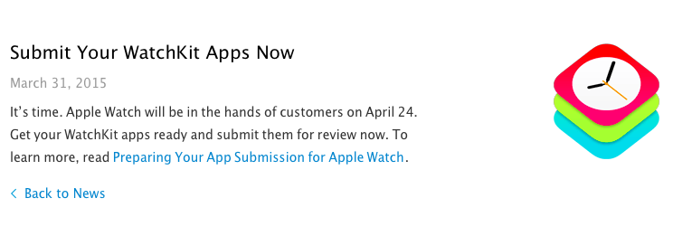 Summit you Apple Watch App