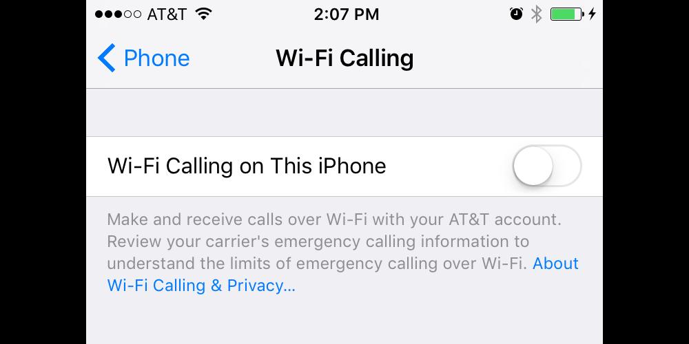 iOS-Wifi-Calling