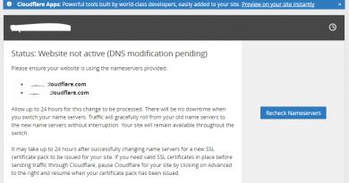 【實用教學】Cloudflare – 加速網站的好幫手 (官網註冊版)